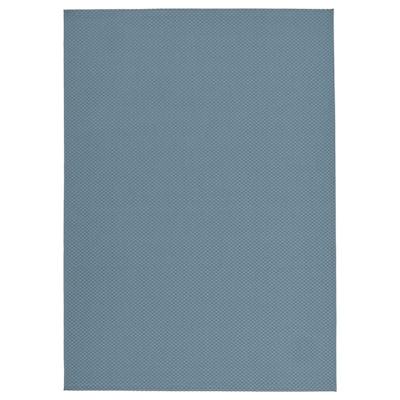 MORUM Teppich flach gewebt, drinnen/drau, hellblau, 200x300 cm