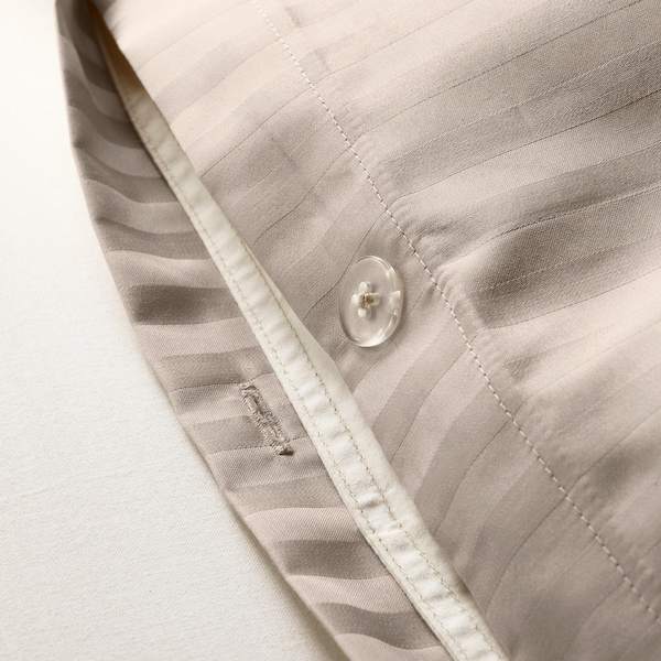 NATTJASMIN Bettwäscheset, 3-teilig hellbeige 310 Quadratzoll 2 Stück 220 cm 240 cm 50 cm 60 cm