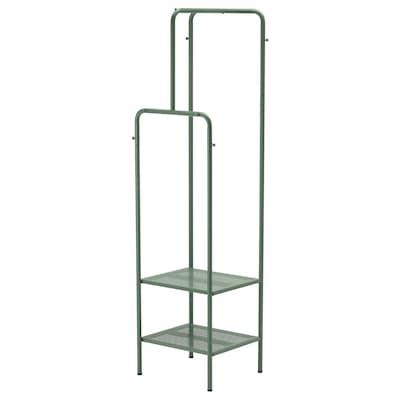 NIKKEBY Garderobenständer, graugrün, 45x170 cm