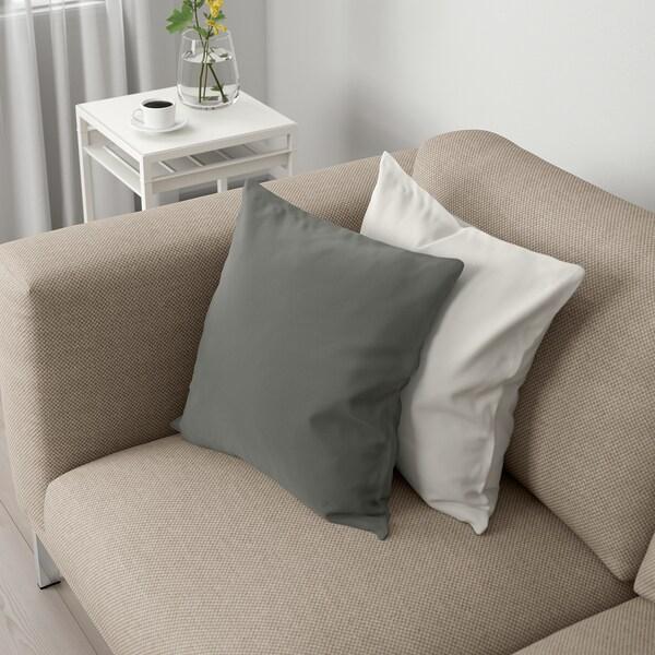 NOCKEBY 2er-Sofa, Lejde dunkelbeige/verchromt