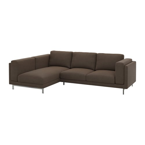 nockeby bezug 2er sofa mit r camiere links ten braun ikea. Black Bedroom Furniture Sets. Home Design Ideas