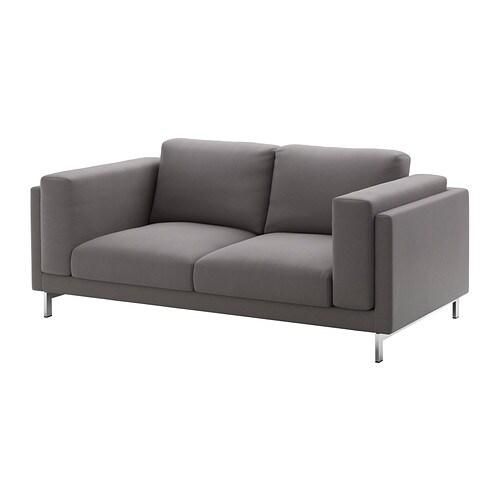nockeby 2er sofa verchromt risane grau ikea. Black Bedroom Furniture Sets. Home Design Ideas