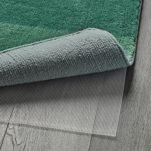 NÖDEBO Teppich Kurzflor Handarbeit/grün 240 cm 170 cm 4.08 m² 3010 g/m² 2400 g/m² 7 mm