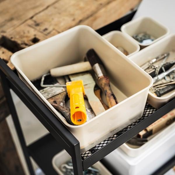 NOJIG Sortierbox, Kunststoff/beige, 20x25x10 cm