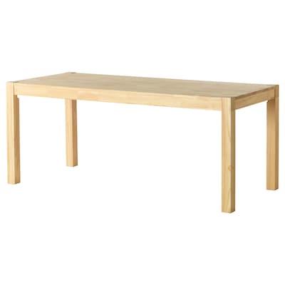 NORDBY Tisch, Gummibaum, 180x78 cm