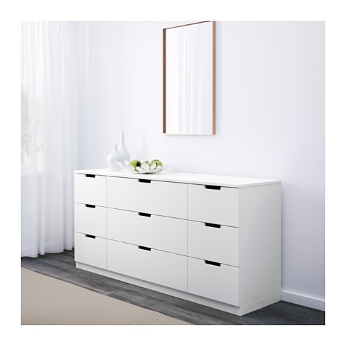 nordli kommode mit 9 schubladen ikea. Black Bedroom Furniture Sets. Home Design Ideas