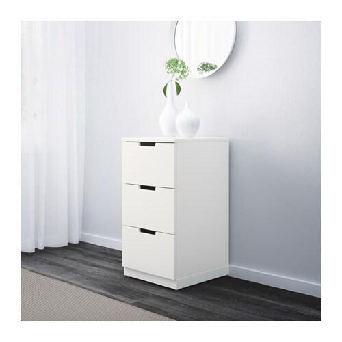 nordli kommode mit 3 schubladen ikea. Black Bedroom Furniture Sets. Home Design Ideas