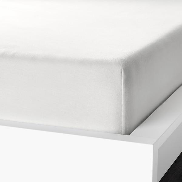 NORDRUTA Spannbettlaken weiß 86 Quadratzoll 200 cm 140 cm