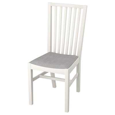 NORRNÄS Stuhl, weiß/Isunda grau