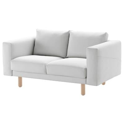 NORSBORG 2er-Sofa, Finnsta weiß/Birke