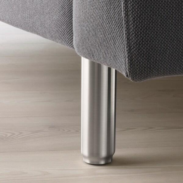 NORSBORG 3er-Sofa, mit Récamiere/Finnsta dunkelgrau/Metall