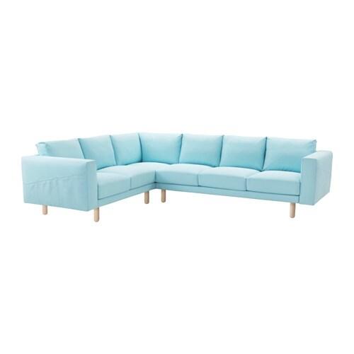 norsborg ecksofa 2 3 3 2 edum hellblau birke ikea. Black Bedroom Furniture Sets. Home Design Ideas