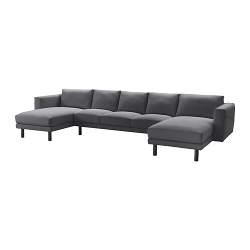norsborg 3er sofa mit 2 r camieren finnsta dunkelgrau grau ikea. Black Bedroom Furniture Sets. Home Design Ideas