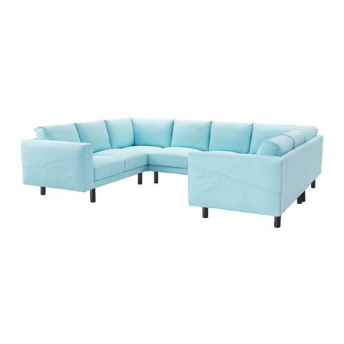 norsborg 8er sofa u form edum hellblau grau ikea. Black Bedroom Furniture Sets. Home Design Ideas