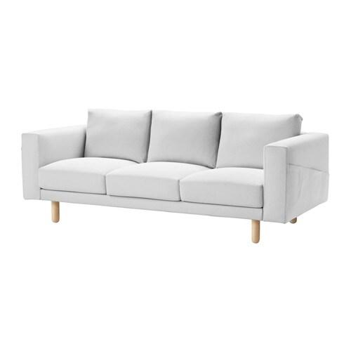 NORSBORG 3er-Sofa - Finnsta weiß, Birke - IKEA
