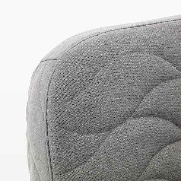 NYHAMN Bettsofa mit Dreierkissen mit Schaummatratze/Knisa grau/beige 200 cm 97 cm 90 cm 73 cm 31 cm 140 cm 200 cm