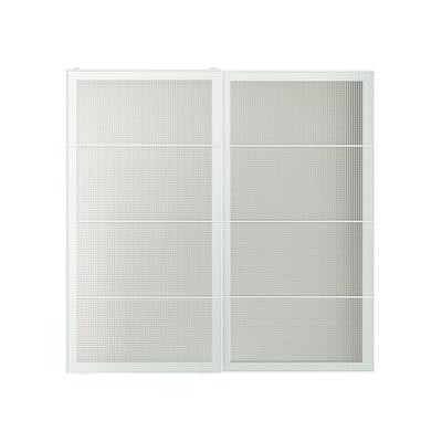 NYKIRKE Schiebetürpaar Frostglas kariert 200.0 cm 201.0 cm 8.0 cm 2.3 cm