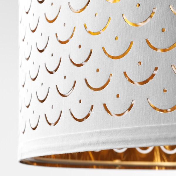 NYMÖ Leuchtenschirm weiß/messingfarben 33 cm 44 cm