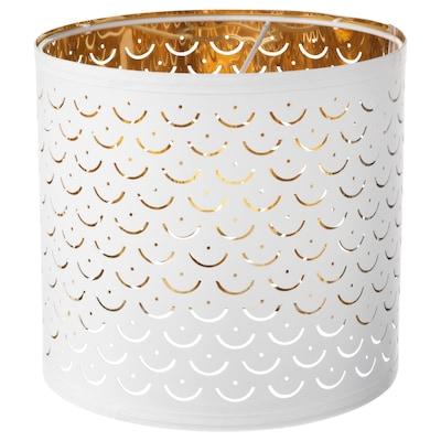 NYMÖ Leuchtenschirm, weiß/messingfarben, 24 cm