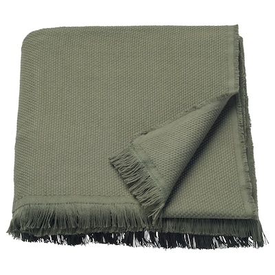 ODDRUN Plaid, dunkelgrün, 130x170 cm