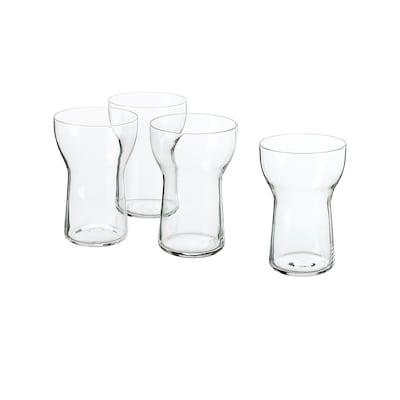 OMTÄNKSAM Glas Klarglas 13 cm 35 cl 4 Stück