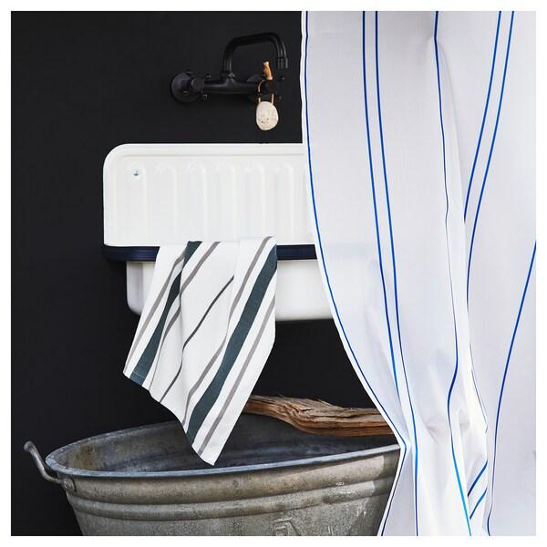 OTTSJÖN Handtuch weiß/blau 70 cm 40 cm 0.28 m² 390 g/m²