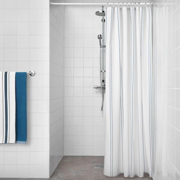 OTTSJÖN Duschvorhang weiß/blau 60 g/m² 200 cm 180 cm 3.60 m² 60 g/m²