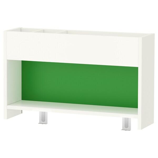 PÅHL Schreibtisch mit Aufsatz, weiß/blau, 96x58 cm