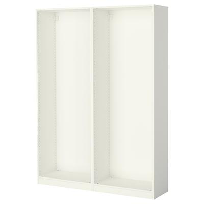 PAX 2x Korpus Kleiderschrank, weiß, 150x35x201 cm