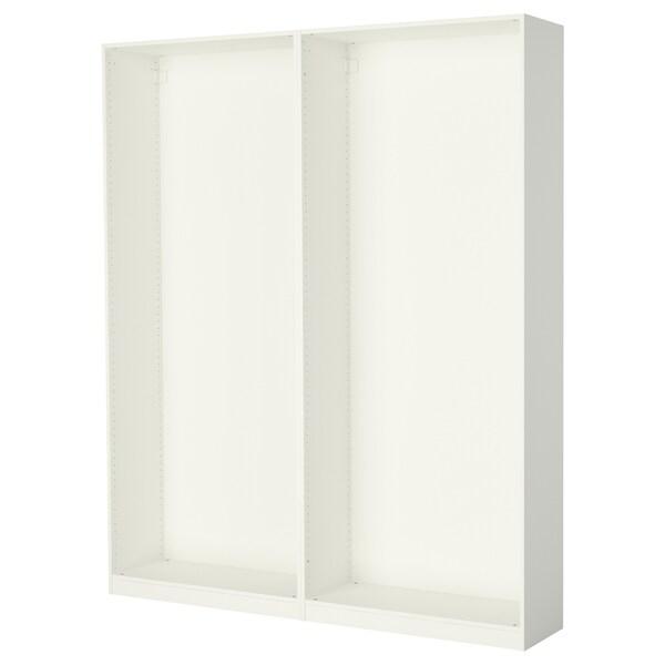 PAX 2x Korpus Kleiderschrank, weiß, 200x35x236 cm