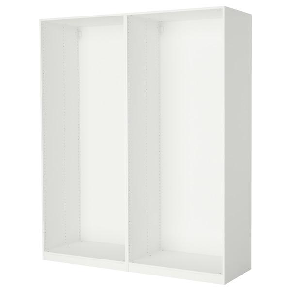 PAX 2x Korpus Kleiderschrank, weiß, 200x58x236 cm