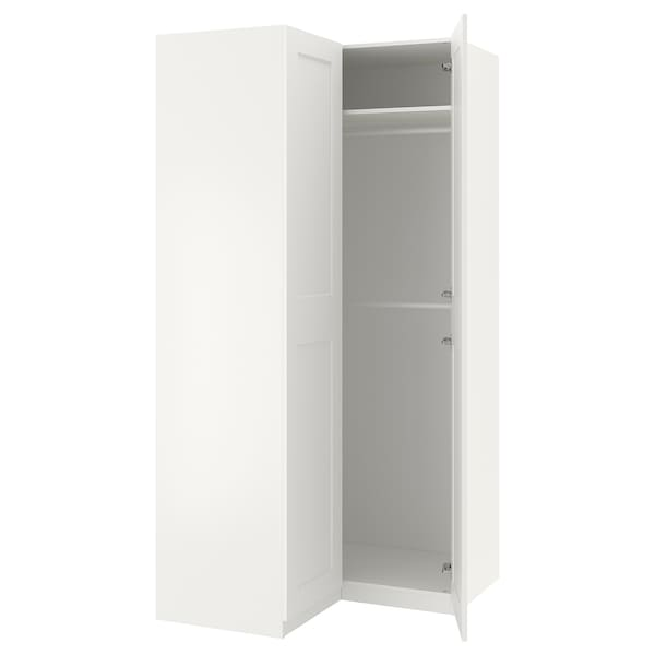 PAX Eckkleiderschrank weiß/Grimo weiß 236.4 cm 110.5 cm 110.5 cm
