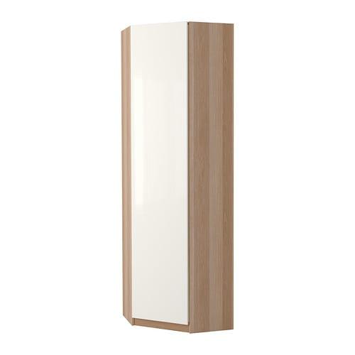 pax eckkleiderschrank fardal hochglanz wei eicheneffekt wei lasiert 73 73x236 cm ikea. Black Bedroom Furniture Sets. Home Design Ideas