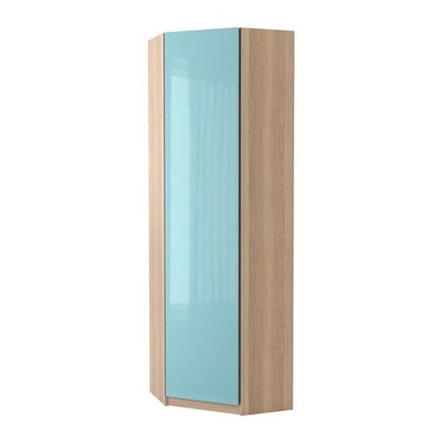 pax eckkleiderschrank fardal hochglanz hellt rkis eicheneffekt wei lasiert 73 73x236 cm ikea. Black Bedroom Furniture Sets. Home Design Ideas