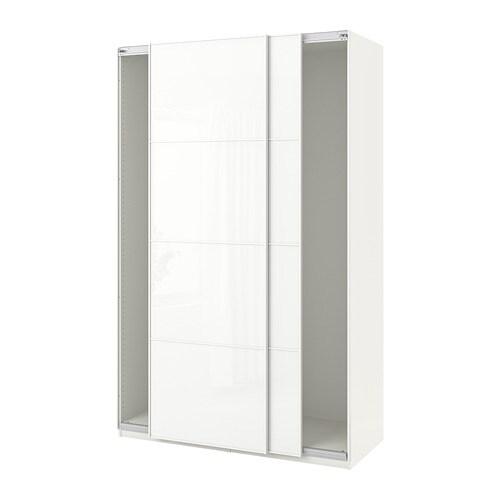 Kleiderschrank Weißes Pax Mit Glas SchiebetürenWeißFärvik UMGSqzVp