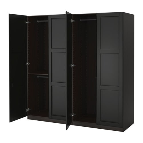 PAX Kleiderschrank - 200x60x201 cm, Scharnier, sanft schließend - IKEA