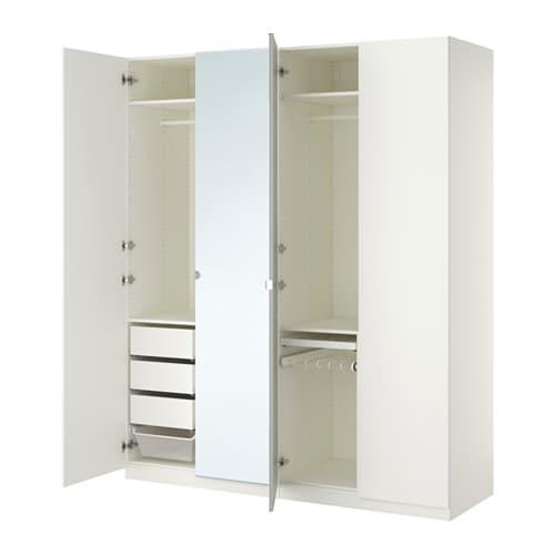 Kleiderschrank weiß mit spiegel ikea  PAX Kleiderschrank - 200x60x236 cm, Scharnier - IKEA