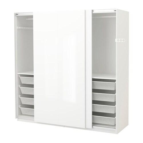 Kleiderschrank weiß ikea  PAX Kleiderschrank - 200x66x201 cm - IKEA