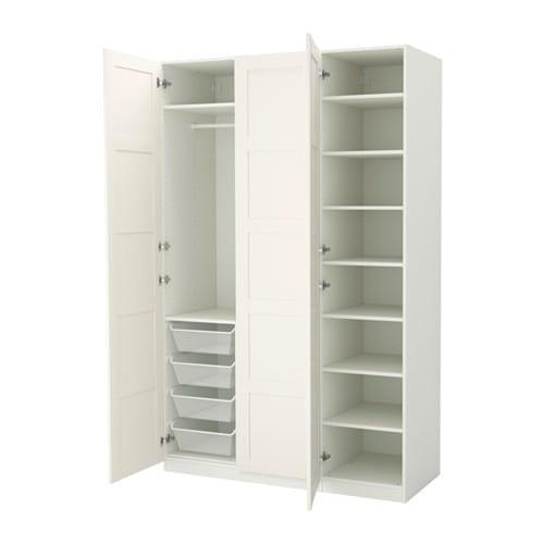 Kleiderschrank weiß ikea  PAX Kleiderschrank - 150x60x236 cm, Scharnier, sanft schließend - IKEA