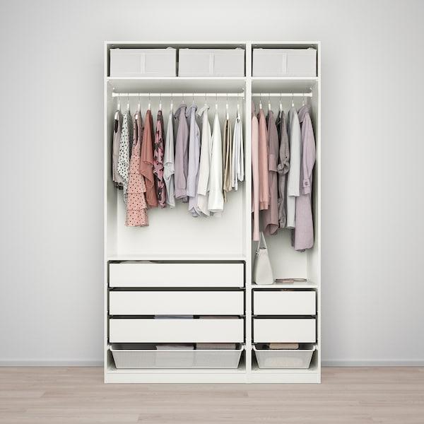 PAX Kleiderschrank, weiß/Fardal Hochglanz/weiß, 150x60x236 cm