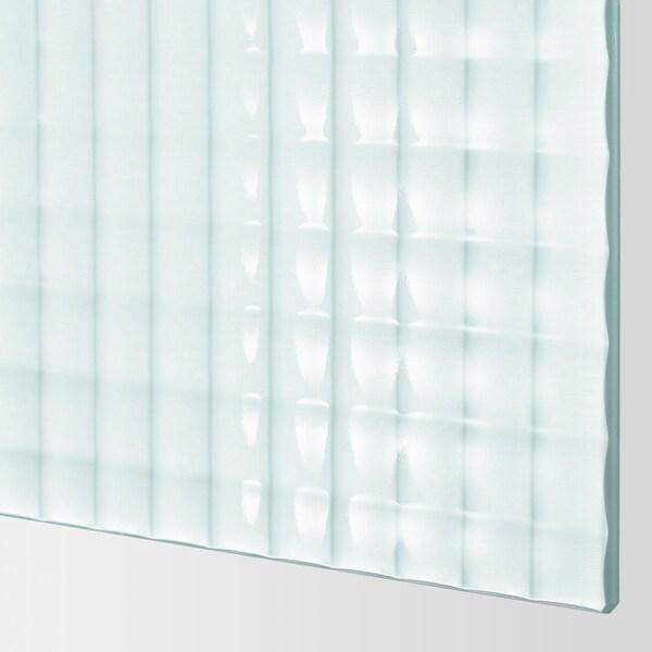 PAX Kleiderschrank, weiß/Nykirke Frostglas kariert, 200x66x201 cm