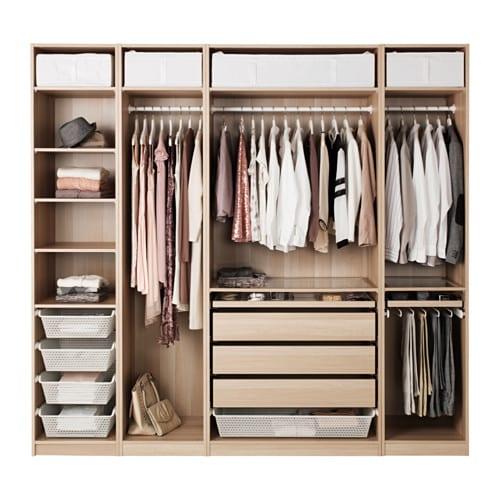 Ikea Pax Schrank Beleuchtung ~   Kleiderschränke  PAX Kleiderschranksystem Kombinationen ohne Türen