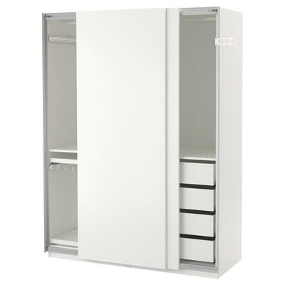 PAX Kleiderschrank weiß/Hasvik weiß 150 cm 66 cm 201.2 cm