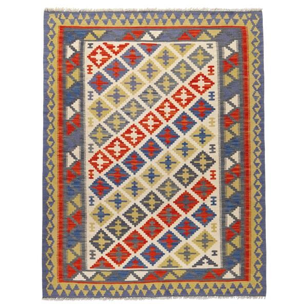 PERSISK KELIM GASHGAI Teppich flach gewebt, Handarbeit versch. Muster, 125x180 cm