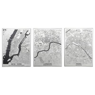 PJÄTTERYD Bild, große Städte, 30x40 cm