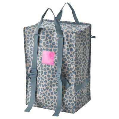 PLUGGHÄST Tasche, gemustert blau, 72 l