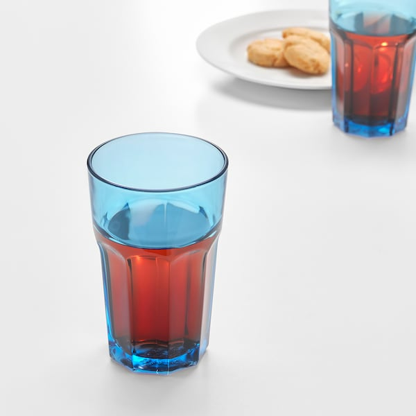 POKAL Glas, blau, 35 cl