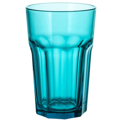 POKAL Glas türkis 14 cm 35 cl