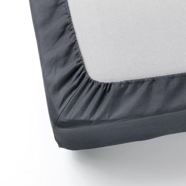 PUDERVIVA Spannbettlaken, dunkelgrau, 90x200 cm
