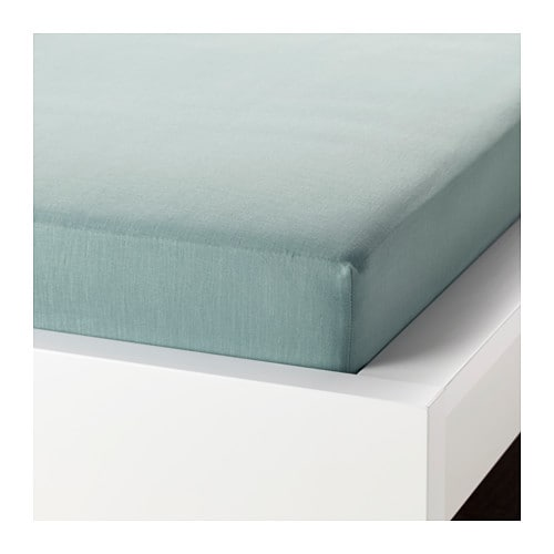 Ikea Spannbettlaken Puderviva Leinen Grün 180x200 Bettwäsche